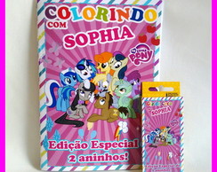 Kit de Colorir com Giz de Cera My Little Pony