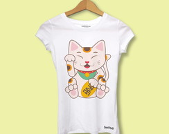Camiseta Baby Long gato chinês