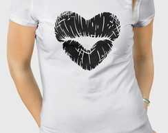 Camiseta Mouth Love - Masc Fem BW
