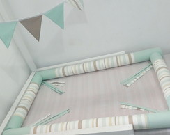 Kit Montessoriano Mini Cama Bege/verde