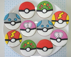 Biscoitos Decorados Pokebolas