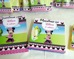 Lembrancinha minnie e mickey kit colorir