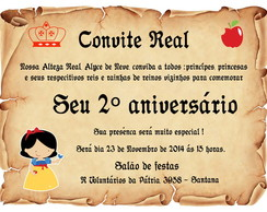 Convite Real Da Branca De Neve Elo7
