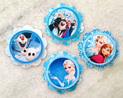 Tag topper frozen para doces