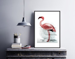 Plaquinha Placa Quadro MDF 30x40cm Flamingo Tropical