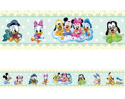 Faixa Adesiva Decorativa Border Turma do Mickey Baby