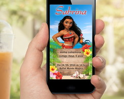 CONVITE DIGITAL MOANA - WHATSAPP