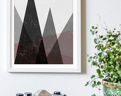 Poster Grey Triangles