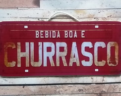 Placa Decorativa Vintage Churrasco