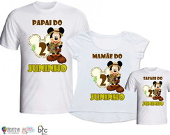 Kit Camisetas 3 Unidades - Mickey Safari