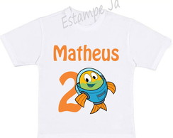 Camiseta Personalizada do Peixonauta Camiseta do Peixonauta