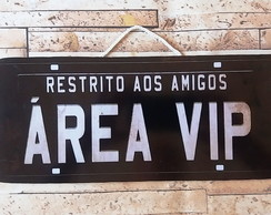 Placa Decorativa Vintage Amigos