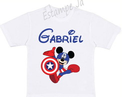 Camiseta do Mickey Camiseta do Capitão América