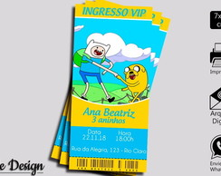 CONVITE DIGITAL ADVENTURE TIME INGRESSO