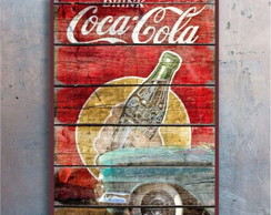 Placa decorativa - Coca cola