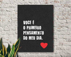Placa decorativa - Pensamento do dia