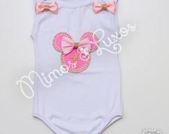 Body Minnie Vernelha/Rosa