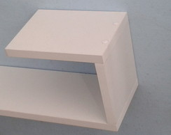 Kit 02 Prateleiras Decorativas J 100x15x20 MDF 18mm