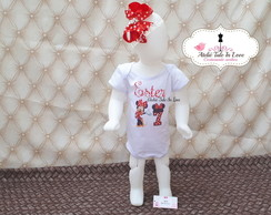 Body Minnie Estampado + Laço boutique