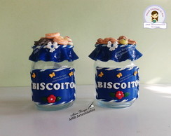 Pote de biscoito decorado com biscuit kit c/02