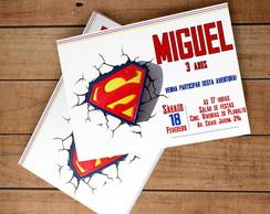 Convite Virtual Super Homem Elo7