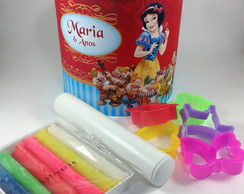 Kit Massinha Super Lata - Branca de Neve 7 Anões
