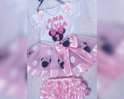 Roupa Minnie rosa para Smash the cake