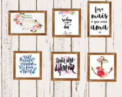 Kit Posters Decorativo Frases