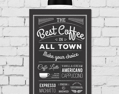 Placa Decorativa 30x40 Café Vintage Best Coffee
