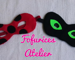 Mascara Lady Bug e Cat Noir