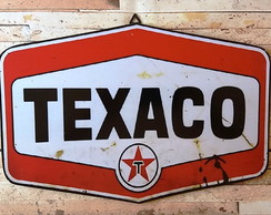 Placa Decorativa Vintage Adesivada Texaco