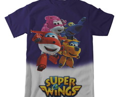 Camiseta Super Wings - Jet e Amigos Degradê