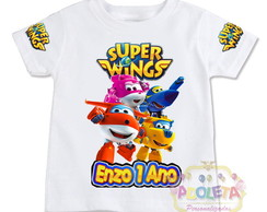 kit super wings camiseta + torre super wings