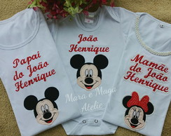 Kit Familia Mickey 3 pecas