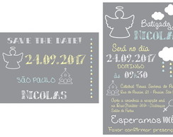 Convite + Save the Date Batizado - digital