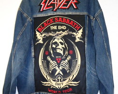 Jaqueta Jeans Oversized - Balck Sabbath Slayer