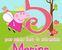 arte digital convite george pig peppa