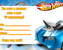 Convite Hot Wheels SEM ENVELOPE