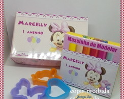Caixa Massinha Cortador Minnie baby