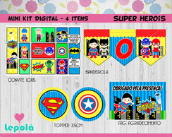 Mini Kit Digital- Super Herois