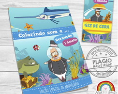 Kit Colorir Mundo Bita Fundo do Mar