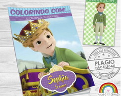 Kit Colorir Princesa Sofia Príncipe