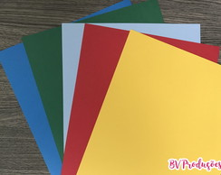 Papel Color Plus 180g (25 unidades) - 5 cores