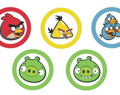 Arte Digital Tag Angry Birds 5x5cm