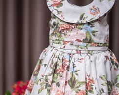 284a418b2c Vestido Infantil Balonê Marrom Floral no Elo7