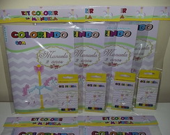 Kit Colorir Revistinha Carrossel Encantado Cute