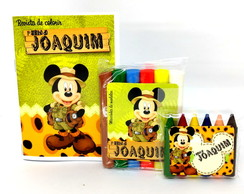 Baby Kit colorir e Modelar - qualquer tema - Mickey Safari