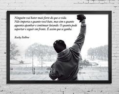 Quadro Com Vidro Frase Rocky Balboa Elo7