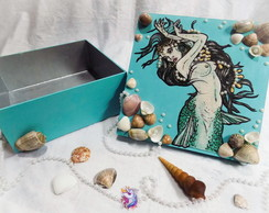 Caixa MDF Sereia Mermaid