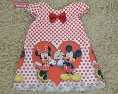 Vestido infantil Minnie e Mickey – Tubinho Fashion